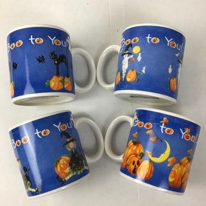 Sakura Halloween 4/pc mug set-NWT!